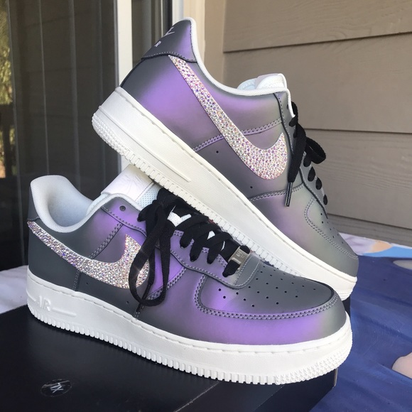 0123b19fe1 Nike Shoes | Air Force 1 Iced Lilac W Swarovski Crystals | Poshmark